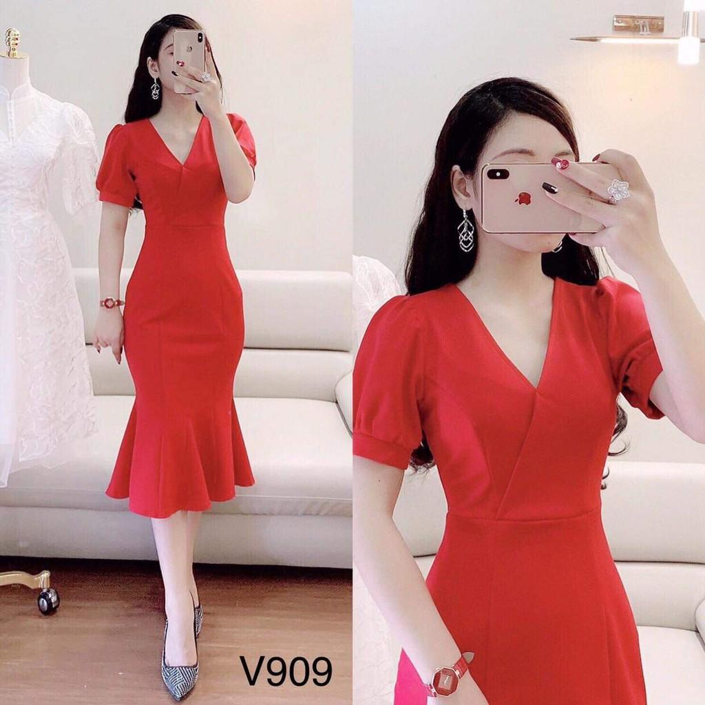 Váy ôm cao cấp V909 - (Kèm Ảnh Thật Trải Sàn Do Shop Tự Chụp)