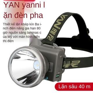 Đèn pha lặn Yani dẫn mạnh Ánh sáng có thể sạc lại pin đội đầu chống nước siêu tầm xa bền đi biển thumbnail