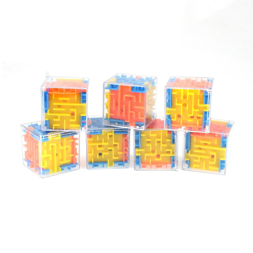 ♪♪♪3D Magic Cube Puzzle Maze Toy Kids Educational Decompression Capsule Toys
