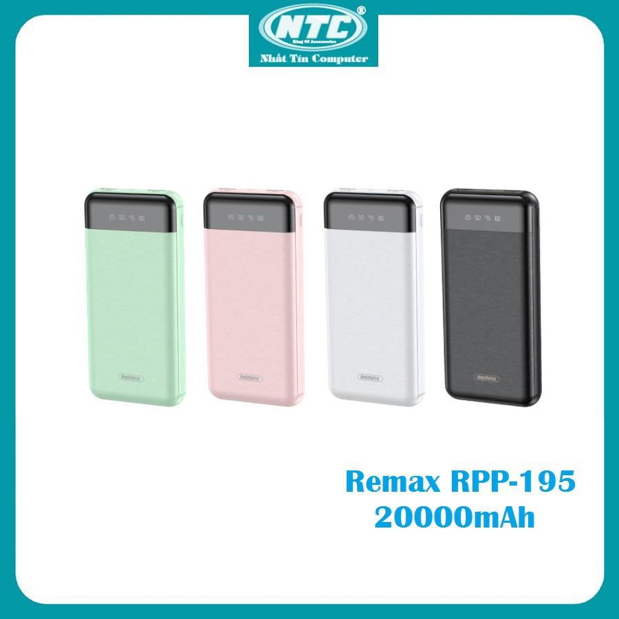 Pin sạc dự phòng Remax RPP-195 20000mAh Led Display, 2 cổng input / output - Nhất Tín Computer