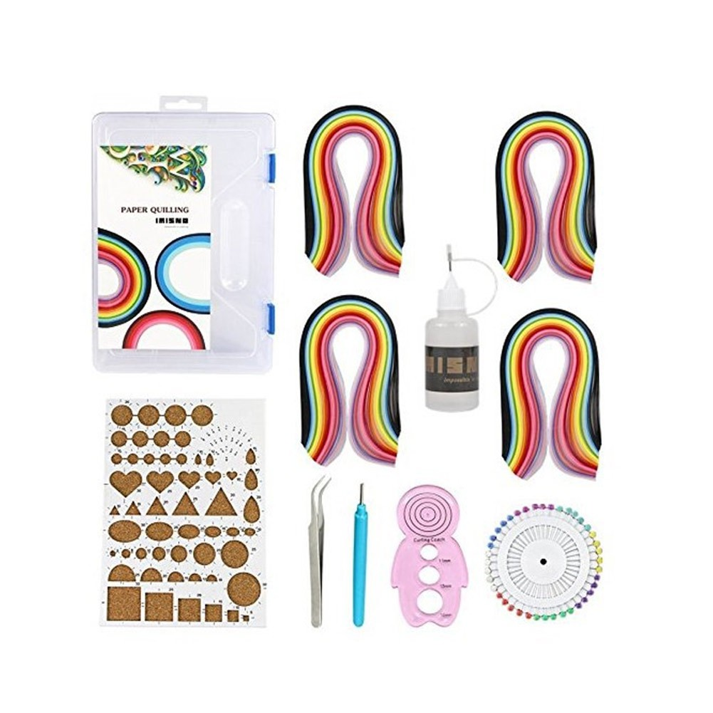 ♥superH♥Paper Quilling Kit Assorted Colors Set+Quilling Tools 26 Colors 260 Strips Gift