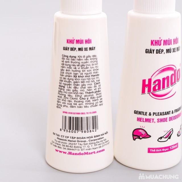 Chai xịt khử mùi giày dép, mũ bảo hiểm HANDO…120ml