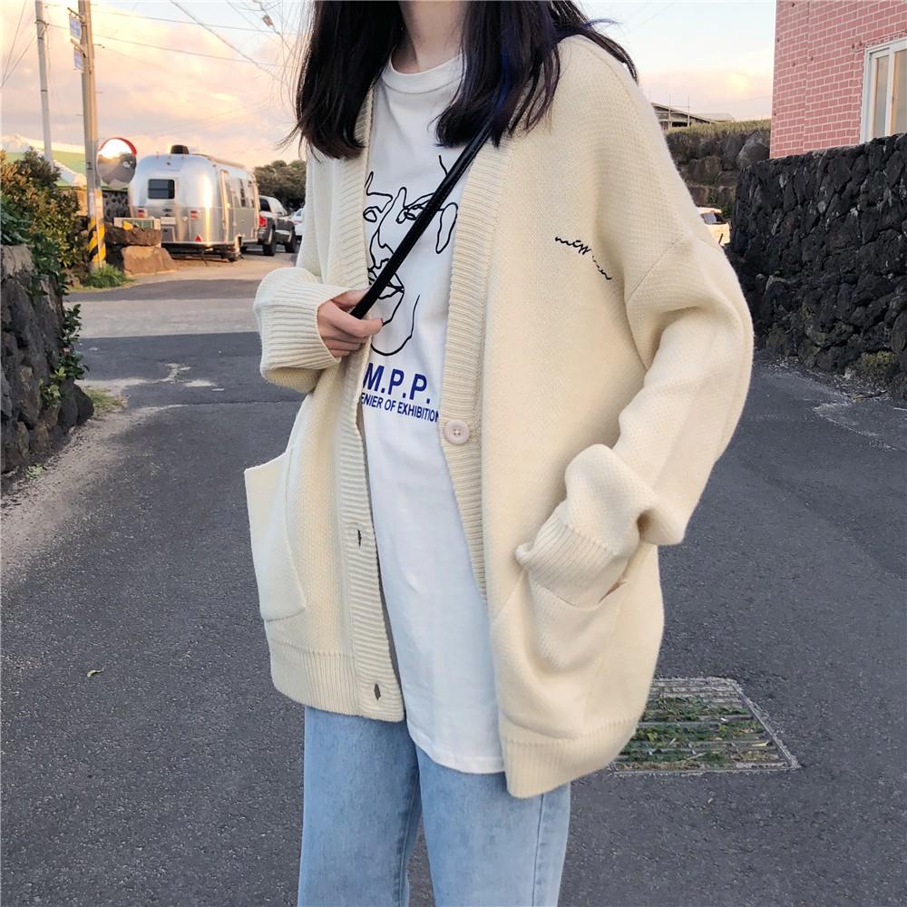 (Order) Áo cardigan len dáng rộng nữ - AD416 (có ảnh thật)