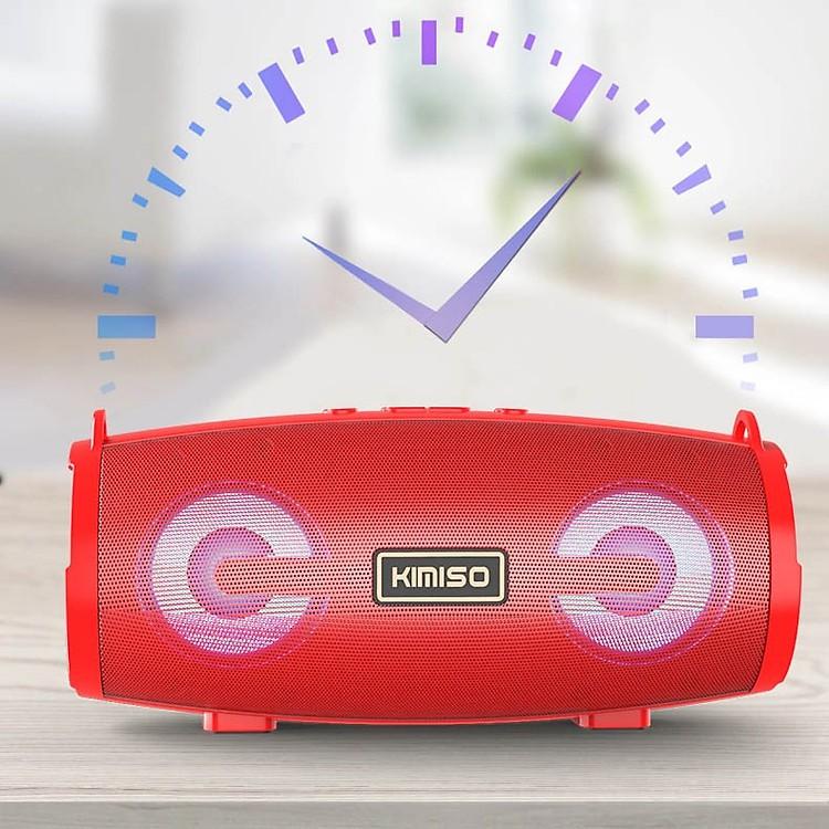 Loa bluetooth Stereo KIMISO KMS-222 hỗ trợ FM/AUX/USB/TF kèm dây đeo tiện dụng (nhiều màu)