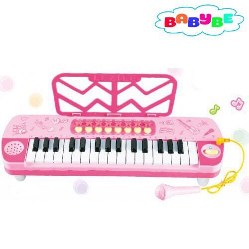 [Nhập mã TOYMAY15 giảm 15K] Đồ Chơi Đàn Organ Phát Nhạc Cho Bé (Hồng) Kèm Mic