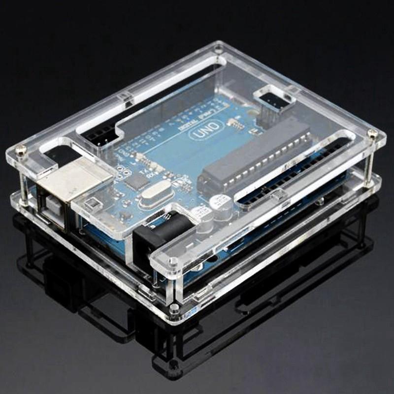 Transparent Acrylic Shell Box, For Arduino UNO R3 Module Board,Goodheat dispersion Giá chỉ 29.000₫