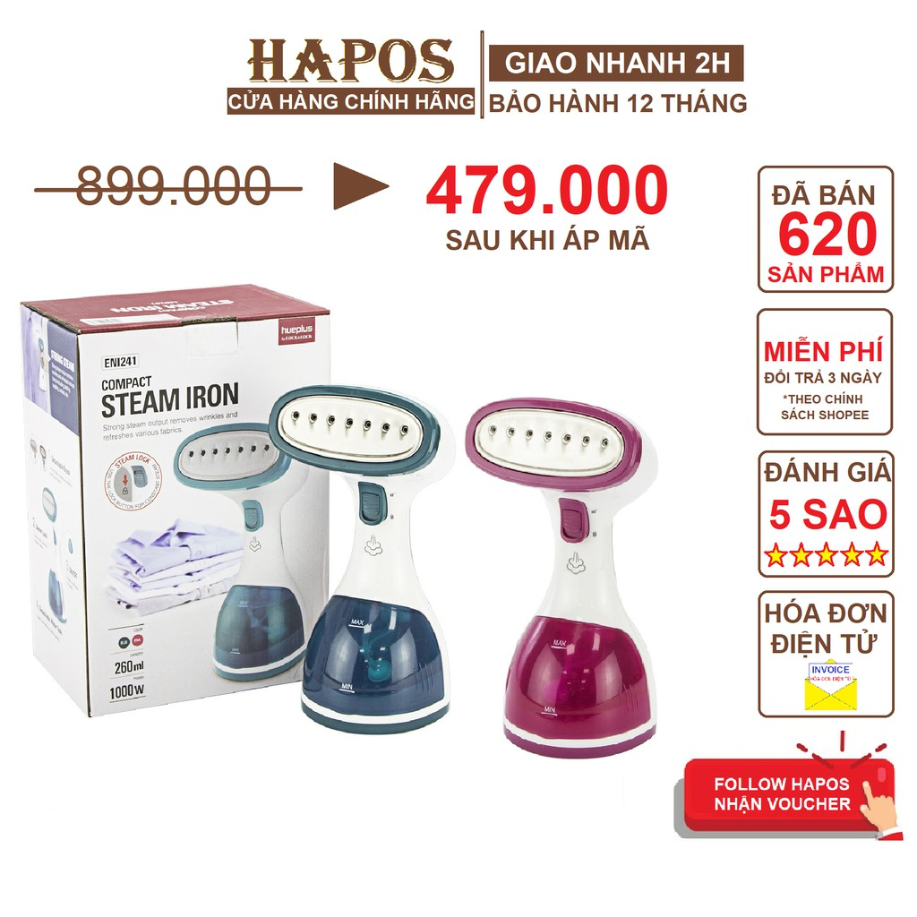 Bàn ủi hơi nước cầm tay Lock&Lock ENI241 1000W - HAPOS Phân Phối Chính Hãng