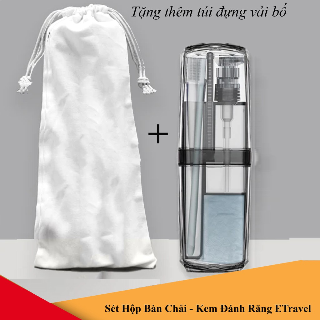 Hộp Đựng Bàn Chải Kem Đánh Răng Sữa Tắm Dầu Gội ETravel Vệ Sinh An Toàn Du Lịch Công Tác Xa