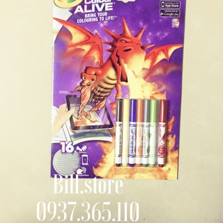 ( SALE ĐỒNG GIÁ 99K ) Tập tô màu 4D Crayola Color Alive Dragon