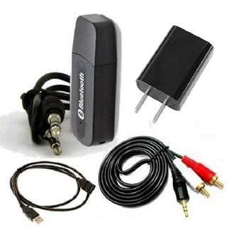 Bộ USB thu bluetooth Music Receiver cho dàn amly ra loa USB bluetooth, cáp 2 đầu 3.5ly, cáp 3.5ly ra 2 bông sen, adaptor
