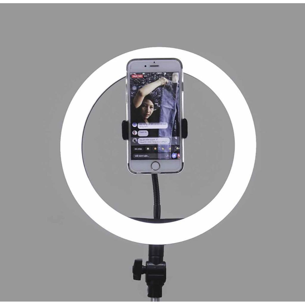 Đèn lẻ Led 26cm Có Kẹp Điện Thoại và Bi cầu Dây remote livestream