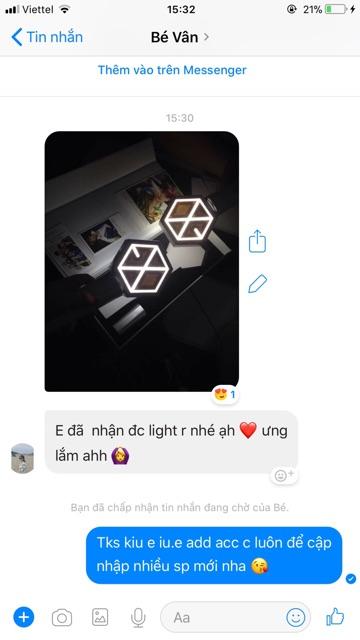 LIGHTSTICK EXO ĐÈN CỔ VŨ EXO (ảnh thật - có sẵn)