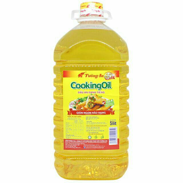 Dầu ăn Cooking Oil Tường An can 5 lít