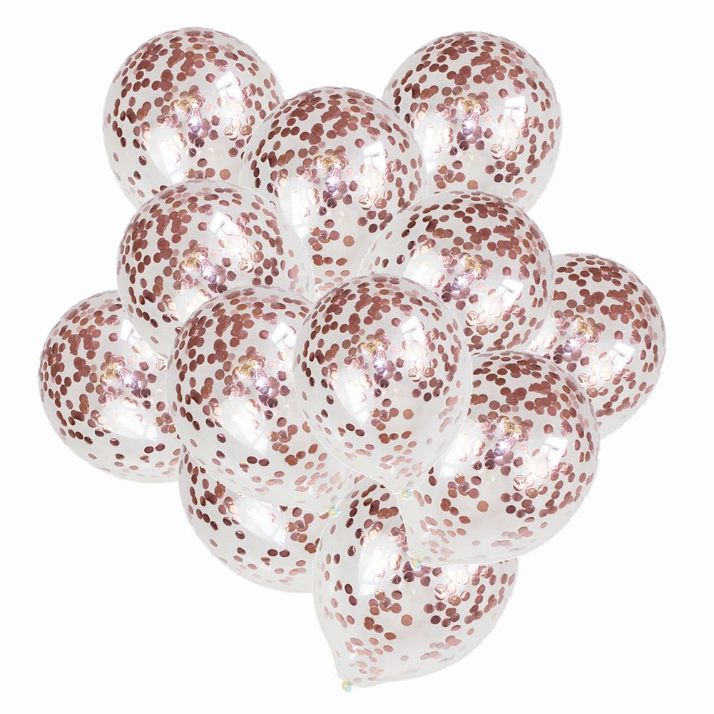20pcs Birthday Wedding Party Supplies Decoration Latex Shining With Sequins Inflatabele Confetti Balloons