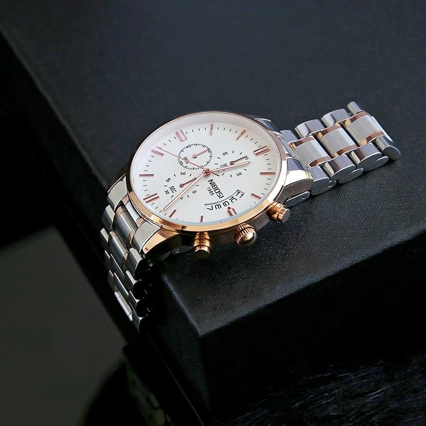 [Tặng vòng tay]Đồng hồ nam NIBOSI chính hãng NI2309.07D thép không gỉ