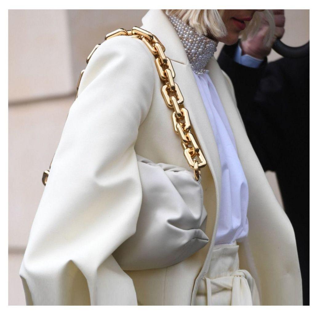 (Cao cấp) Túi kẹp nách dây xích nhựa áng mây KR 333- Da PU mềm mịn, Dây xích vàng to bản, Size 30, 2 dây đeo- KARA 333