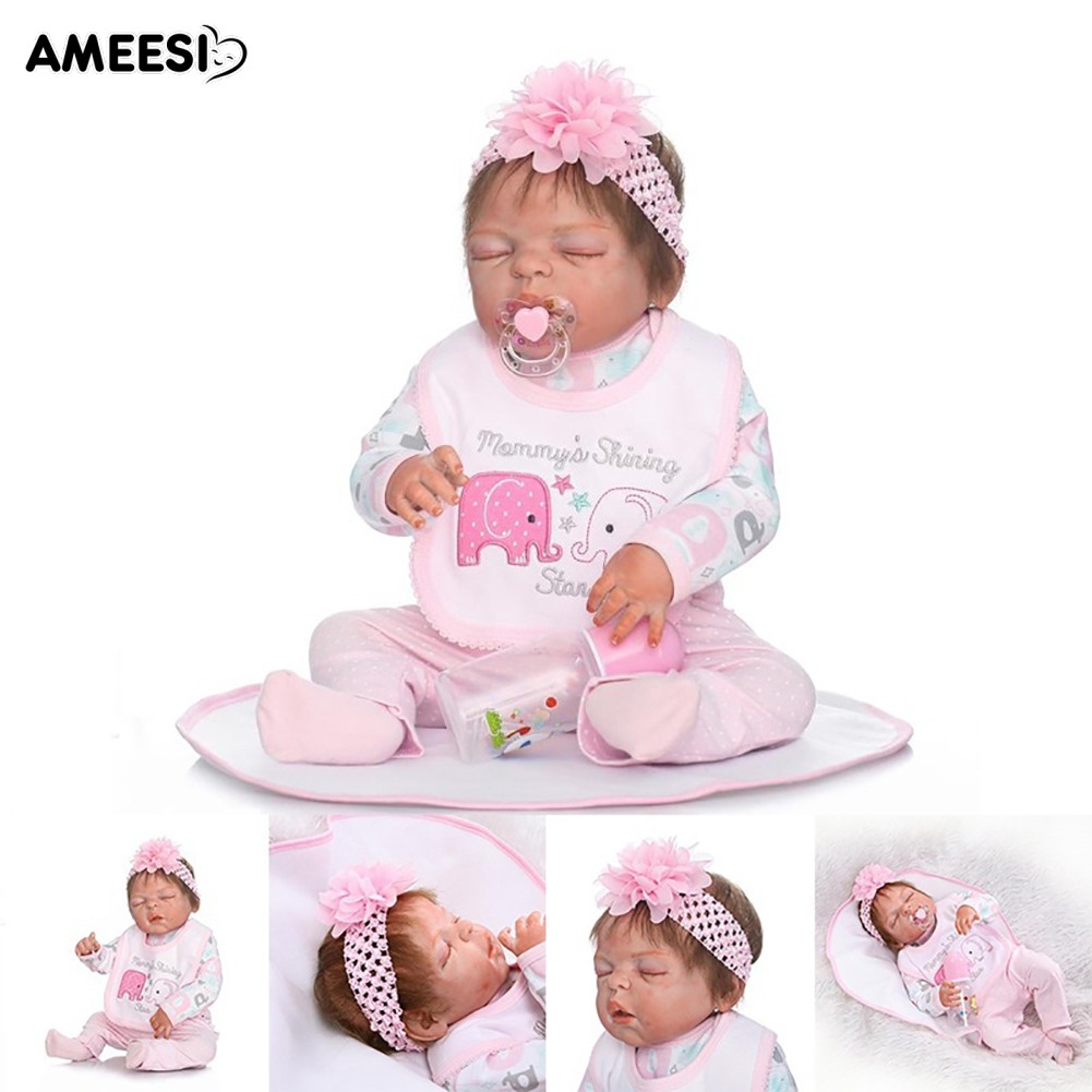 🔅🔆AMEESI  1 Set 22 Inch Handmade Full Body Baby Realistic Doll Toy
