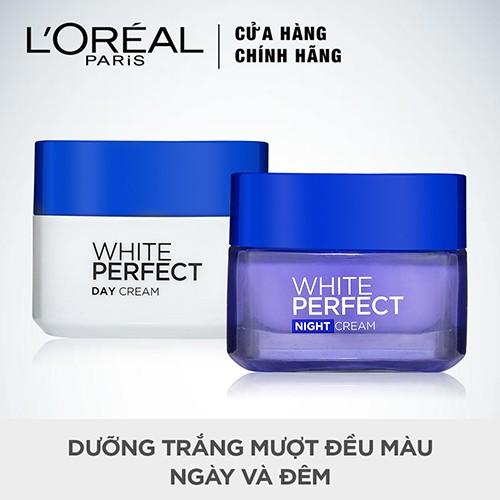 Bộ đôi kem dưỡng da trắng mượt đều màu ngày và đêm L'Oreal Paris White Perfect 50mlx2 _ TULP00014CB