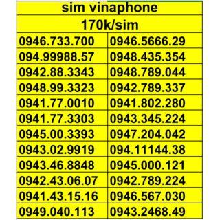 Sim vinaphone số đẹp dễ nhớ đầu số cổ 094