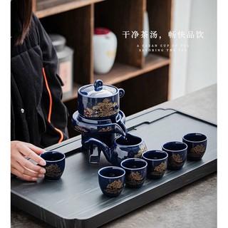 Bộ ấm chén pha trà xanh dương