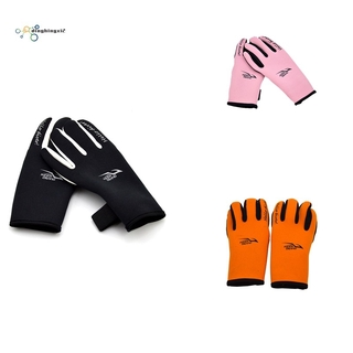 KEEP DIVING 2mm Scuba Diving Gloves Non-Slip Snorkeling Submersible Supplies Skiing Surfing Wetsuit,Black S