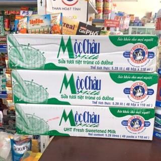 thùng sữa tươi mộc châu hương dừa 48 hộpx110ml chạy date:14/7/2021