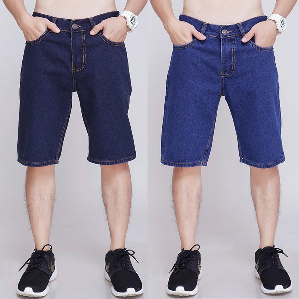 Quần short jean nam đẹp thể thao big size cotton không co giãn mới nhất