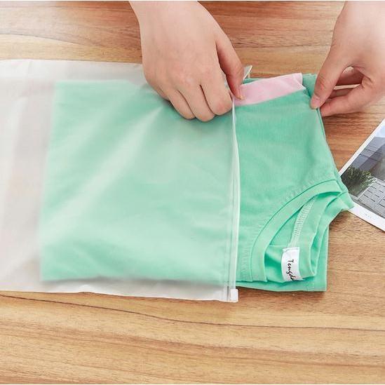 Túi zip lụa mờ đựng đồ dùng cá nhân các kích thước khác nhau