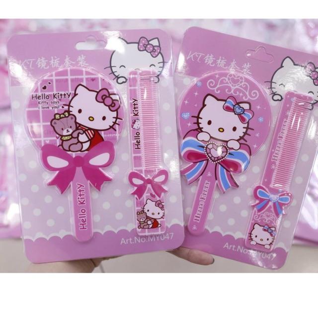 Set Gương Lược Hello Kitty