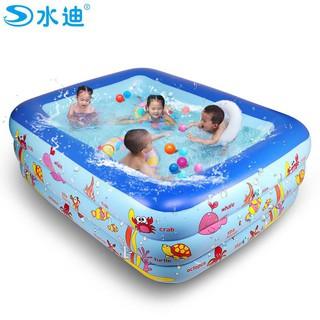 [ SALE ] [Mã TOYDEC giảm 10% tối đa 15K đơn từ 50K] bể bơi m5 3 tầng to đẹp thoải mái 2-3 bé chơi