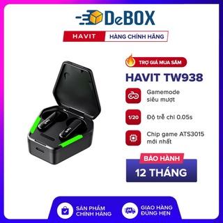 Giao hàng nhanh Tai Nghe Gaming TWS HAVIT TW938, Bass Chất Game Mượt, Chip ATS3015 Giảm Độ Trễ 0.05s - BH 12 Tháng thumbnail