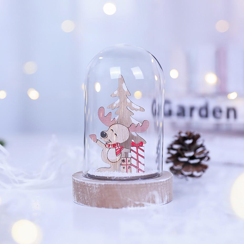 Phụ kiện trang trí Giáng Sinh bằng gỗ kèm dây treo hình ông già Noel