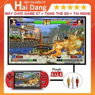 Máy Chơi Game X7, Tặng Thẻ Nhớ 8g Tặng Tai Nghe - Cài Sẵn 9000 Trò Chơi GBA, SNES, GBC, PSP, Nitendo thumbnail