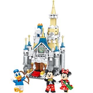 Bộ đồ chơi lắp ráp lâu đài của chuột Mickey Minnie và vịt Donald ngộ nghĩnh đáng yêu