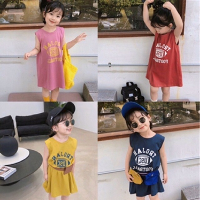 ❤️ Váy suông tanktop ba lỗ cho bé gái hàng FOURAVIA CHẤT COTTON CHUẨN XỊN
