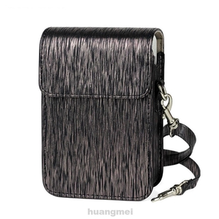 Lightweight Practical Protective Storage Fashion Travel Portable PU Leather Anti Scratch With Shoulder Strap Camera Bag