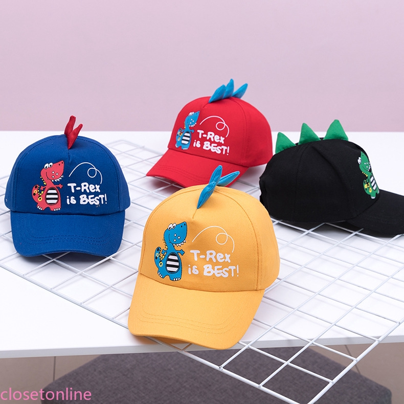 CL❀❀ Baby Boys Girls Cartoon Dinosa Letter Printed Baseball Cap Stereoscopic