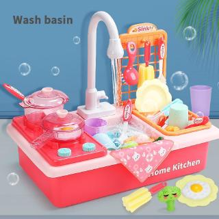 Children's new early-school ed-home dishwasher Electric cycle out of water simulation kitchen toys