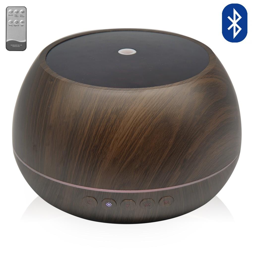 Máy Xông Tinh Dầu Phun Sương Siêu Âm, Bát Tiên 1000ml Tích Hợp Loa Bluetooth Có điều khiển.