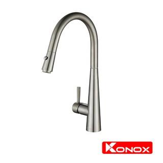 Vòi rửa bát rút dây KONOX KN1901N hợp kim đồng 61% tiêu chuẩn Châu Âu CW617N, bề mặt xử lý công nghệ PVD Chrome 5 lớp