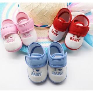 Giày Tập Đi Baby Bằng Vải Quai Dán Bảo Vệ Đôi Chân Cho Bé