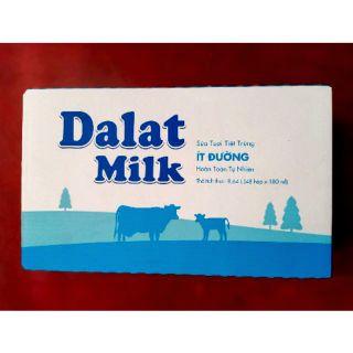1 thùng sữa tươi ít đường 180ml của đà lạt milk
