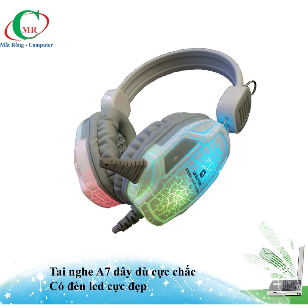 [nhập GTJUL182945 giảm25k] Headphone Quilian A7 dây dù bọc silicon cực chắc led đồi màu cực bền