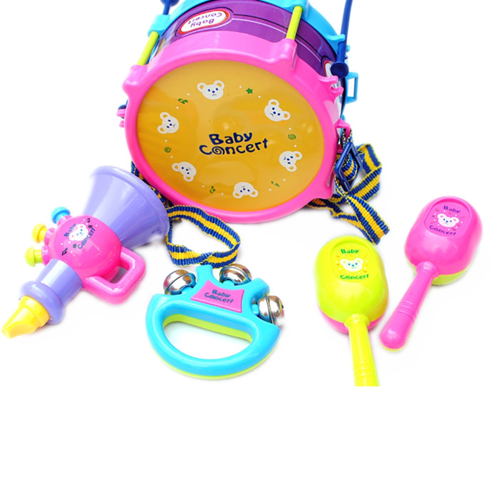 5 pcs Educational Toys Baby Musical Instruments Rattles Bells Handbells Kids Early Learning Rattle Christmas