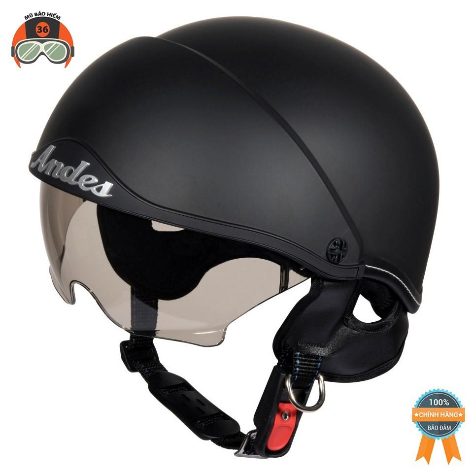 Mũ Bảo Hiểm ANDES 139 Giấu Kính - Tháo Được Lót/ Tháo Được Kính (nhiều màu)
