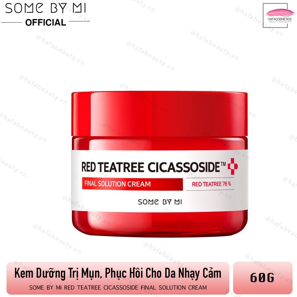 Kem Dưỡng Trị Mụn, Phục Hồi Da Cho Da Nhạy Cảm Some By Mi Red Tea Tree Cicassoside Final Solution Cream 60g