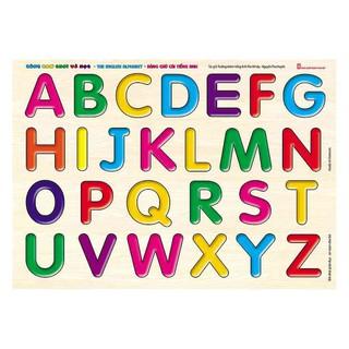 Đồ Chơi – Bảng Gỗ Núm Nhựa Cùng Con Chơi Và Học – Bảng Chữ Cái Tiếng Anh – The English Alphabet
