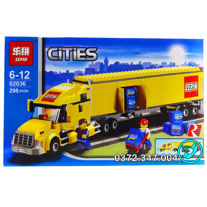 Bộ Lego xếp hình Ninjago City Siêu Xe Container  Gồm 298 chi