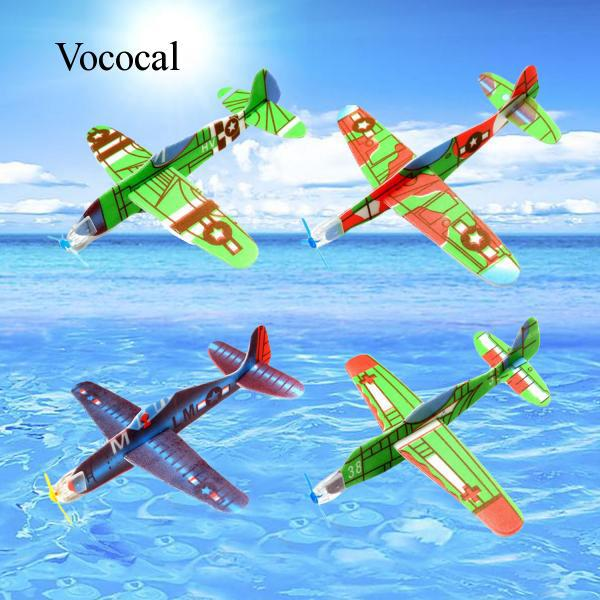 24PCS Hand-Throwing DIY Roundabout Foam Airplane Glider Planes Model Kids Toys
