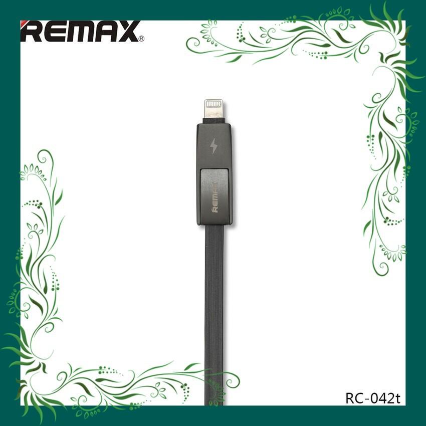 (Sale Mọi Nhà) Cáp USB sang IP6 + Micro REMAX 1m Strive RC-042T thiết kế tinh tế (Đen)